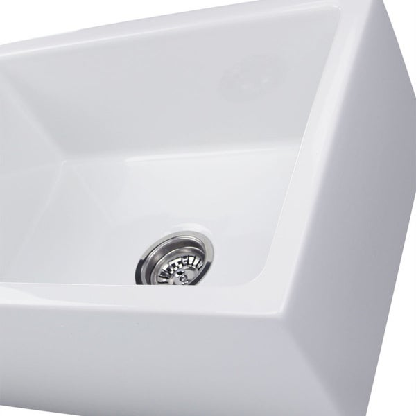 Good Highpoint Collection 24 Inch Single Bowl Reversible Fireclay Farmhouse  Kitchen Sink   Free Shipping Today   Overstock.com   16992646