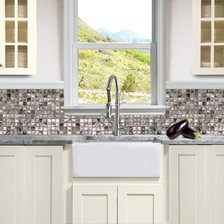 Highpoint Collection White 24-inch Single Bowl Rectangle Fireclay Farmhouse Kitchen Sink