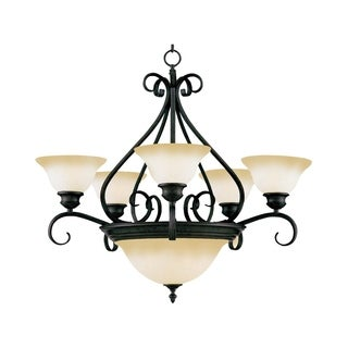 Maxim Iron 7-light Bronze Pacific Multi-Tier Chandelier