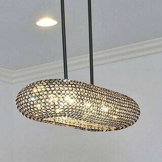 Link to Maxim Metal 10-light Chrome Glimmer Island Pendant Similar Items in Pendant Lights
