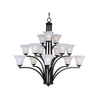 Maxim Steel 15-light Bronze Aurora Multi-Tier Chandelier