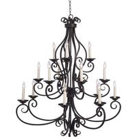 Maxim Lighting Manor 15-light Bronze Multi-tier Chandelier