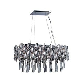 Maxim Steel 19-light Chrome Jewel Island Pendant