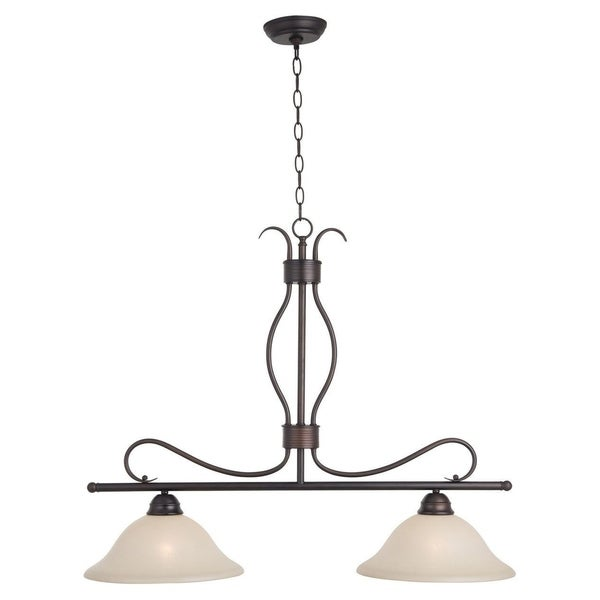 Maxim Iron 2-light Chrome Basix Island Pendant