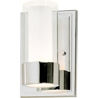 Maxim Metal 1-light Chrome Silo Wall Sconce