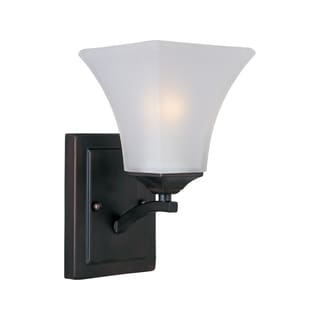 Maxim Steel 1-light Bronze Aurora Wall Sconce