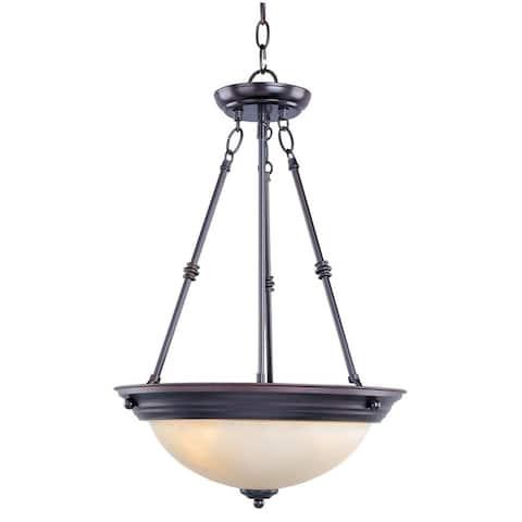 Maxim Lighting Essentials 3-light Steel Bronze Invert Bowl Pendant