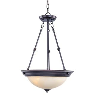 Maxim Lighting Essentials 3-light Steel Bronze Invert Bowl Pendant