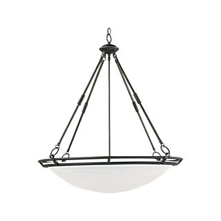 Maxim Iron 6-light Bronze Stratus Invert Bowl Pendant