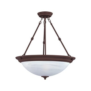 Maxim Bronze Essentials Iron 3-light 584x Invert Bowl Pendant