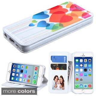 Insten Design Pattern Leather Phone Case Cover with Stand/ Wallet Flap Pouch For Apple iPhone 6