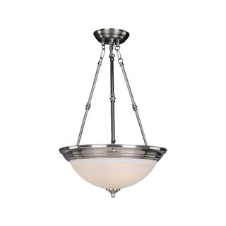 Maxim Iron 3-light Nickel Essentials 584x Invert Bowl Pendant