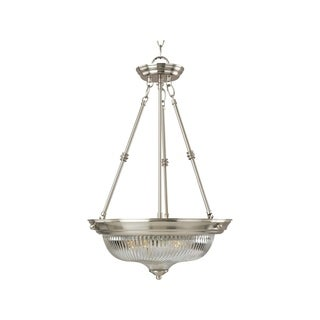 Maxim Iron 3-light Nickel Essentials 582x Invert Bowl Pendant