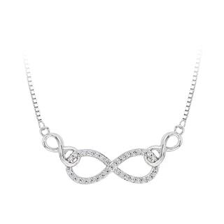10k White Gold 1/8ct TDW Diamond Infinity Necklace (J-K, I1-I2)