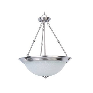 Maxim Lighting Essentials 3-light Nickel Invert Bowl Pendant