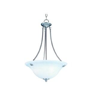 Maxim Lighting Malaga 3-light Nickel Invert Bowl Pendant