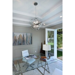 Maxim Metal 9-light Chrome Sputnik Single Pendant