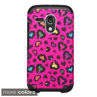 Insten Design Pattern Hard PC/ Silicone Dual Layer Hybrid Rubberized Matte Phone Case Cover For Motorola Moto G 1st Gen