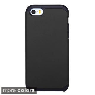 Insten Hard PC/ Silicone Dual Layer Hybrid Rubberized Matte Phone Case Cover For Apple iPhone 5/ 5S/ SE