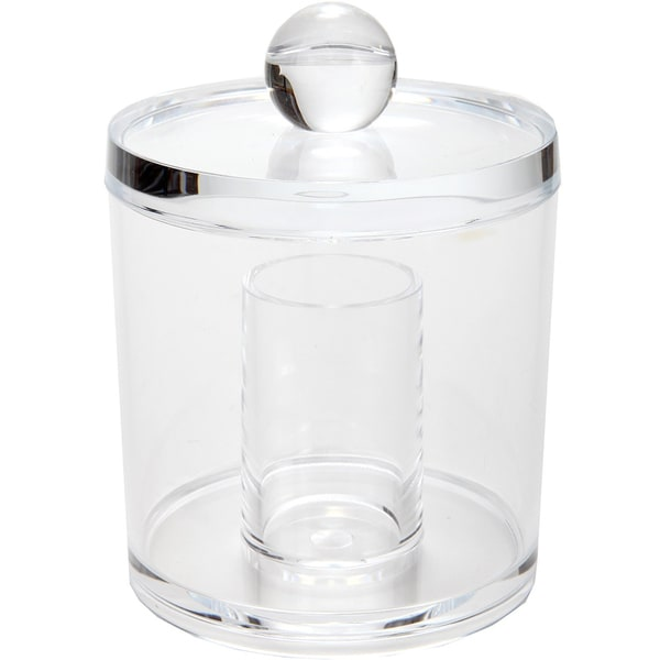 Shop Clear Acrylic Cotton Swab Ball Container Free