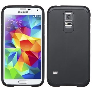Insten Hard PC/ Silicone Dual Layer Hybrid Rubberized Matte Phone Case Cover For Samsung Galaxy S5