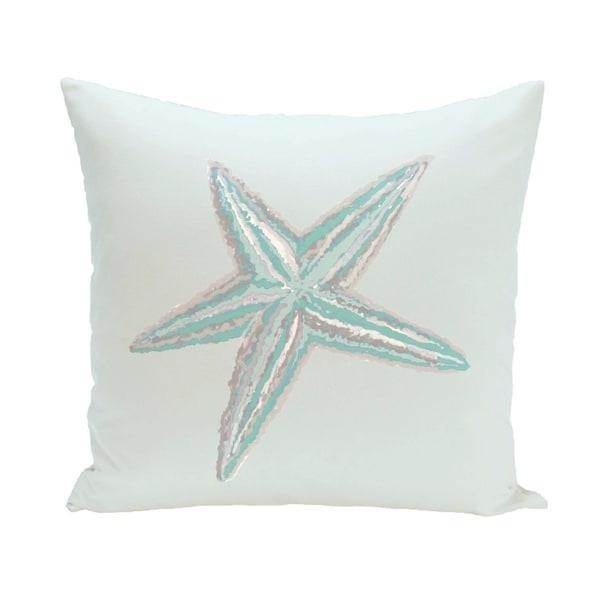 Coastal Starfish 16-inch Decorative Pillow