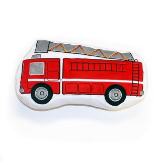 Teyo's Tires Decorative Fire Truck Throw Pillow