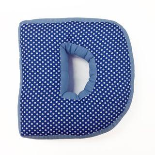 Simplicity Blue Letter Throw Pillows