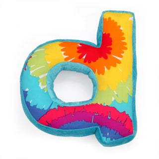 Terrific Tie Dye Letter Throw Pillows
