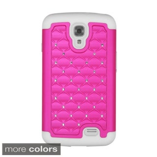 Insten Plain Hard PC/ Silicone Dual Layer Hybrid Rubberized Matte Phone Case Cover with Diamond For LG F70 D315