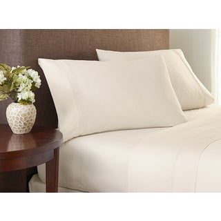 Crowning Touch Cotton Natural 400 Thread Count Solid Sheet Set