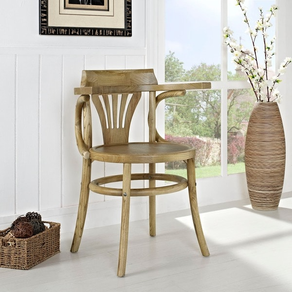 Shop Modway Stretch Wood Dining Chair Free Shipping