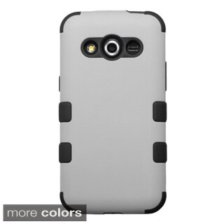 Insten Plain Tuff Hard PC/ Silicone Dual Layer Hybrid Rubberized Matte Phone Case Cover For Samsung Galaxy Avant