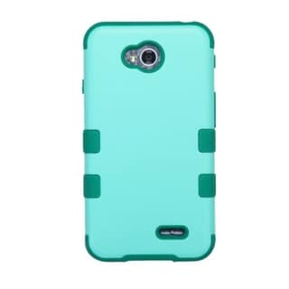 Insten Teal Hard PC/ Silicone Hybrid Phone Case Cover For LG Optimus Exceed 2 VS450PP Verizon/ Optimus L70 MS323/ Realm LS620