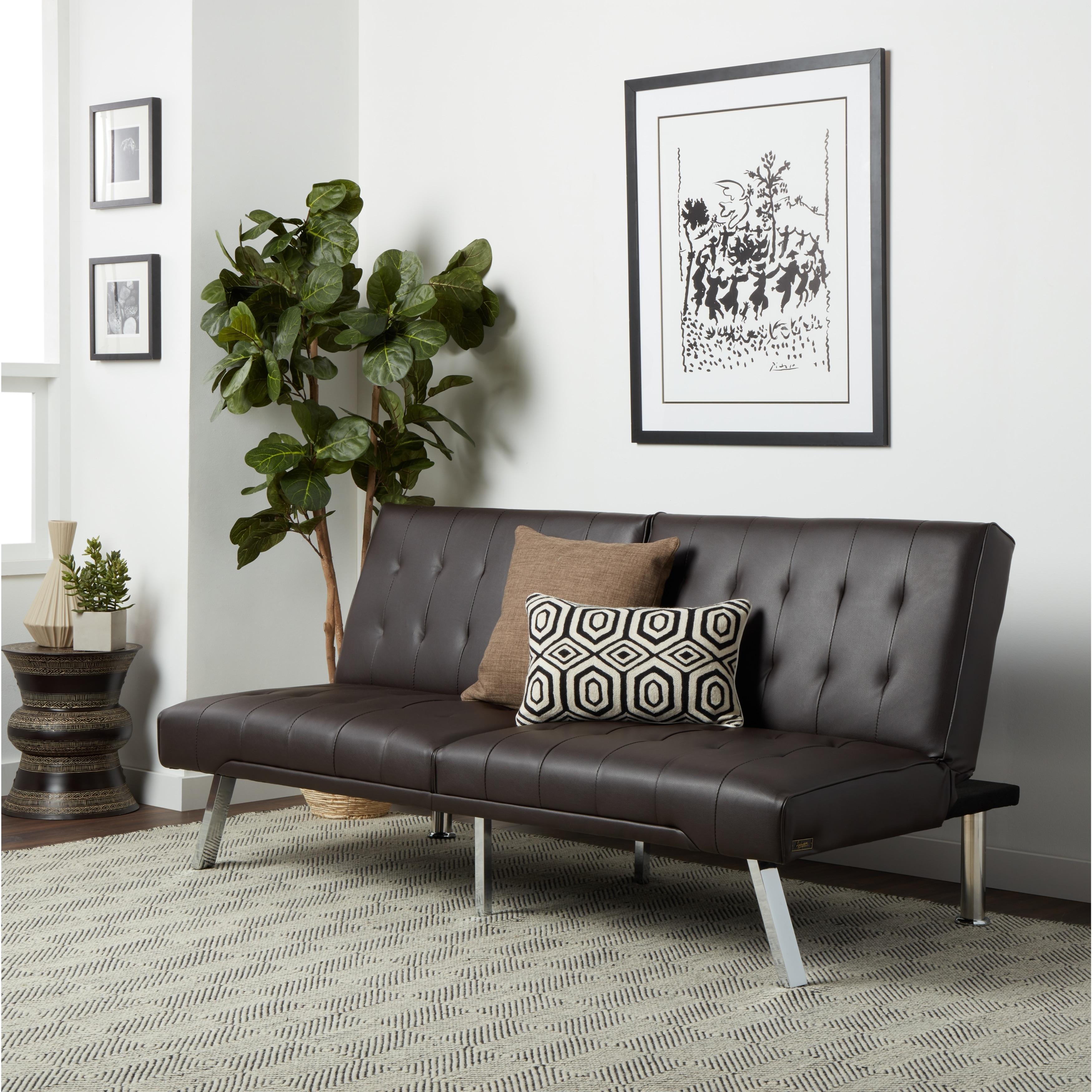 Brilliant Abbyson Jackson Dark Brown Leather Foldable Futon Sofa Bed Ibusinesslaw Wood Chair Design Ideas Ibusinesslaworg