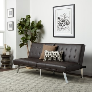 leather office couch. abbyson jackson dark brown leather foldable futon sofa bed office couch f
