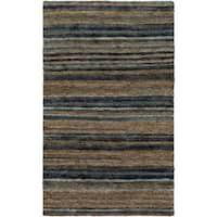 Hand-Woven Jeff Stripe Hemp Textured Area Rug (8' x 11')