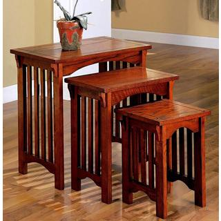 Dolson 3-piece Wooden Mission Style Nesting Table Set