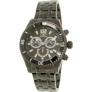 Invicta Men's 0624 Black Stainless Steel Swiss Chronograph Watch
