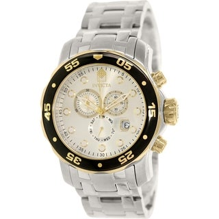 Invicta Men's Pro Diver 80040 Stainless Steel Swiss Chronograph Watch