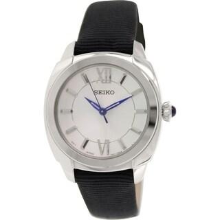 Seiko Women's SRZ425P2 Black Nylon Quartz Watch