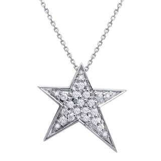 Beverly Hills Charm 10K Gold 1/5ct TDW Diamond Star Necklace (H-I, I2-I3)