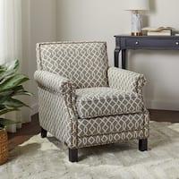 Abbyson Chloe Grey Pattern Club Chair