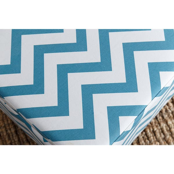 Miraculous Shop Abbyson Mercer Turquoise Chevron Small Storage Ottoman Andrewgaddart Wooden Chair Designs For Living Room Andrewgaddartcom