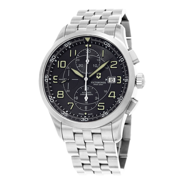 Victorinox Swiss Army Men's Airboss 241620 Stainless Steel Swiss Automatic Watch - silver