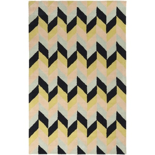 Hand-Tufted Kellie Contemporary Wool Rug (5' x 8')