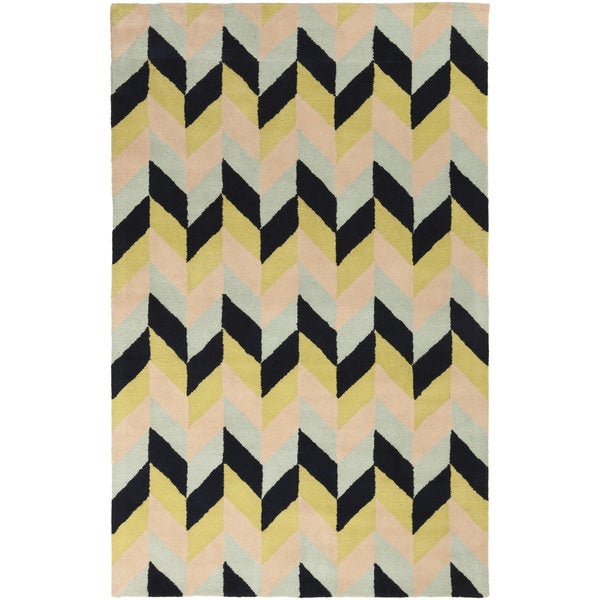 Hand-Tufted Kellie Contemporary Wool Area Rug (5' x 8')