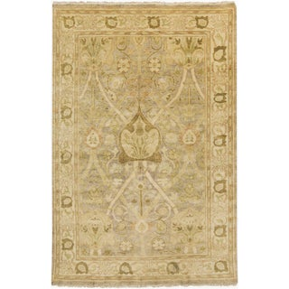 Hand-Knotted Monica Floral New Zealand Wool Rug (3'6 x 5'6)