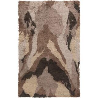 Hand-Woven Kirwan Shag Wool Rug (2' x 3')