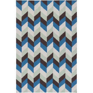 Hand-Woven Kristy Contemporary Wool Rug (8' x 11')